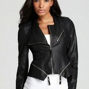 BLANK NYC Faux leather moto jacket New XL